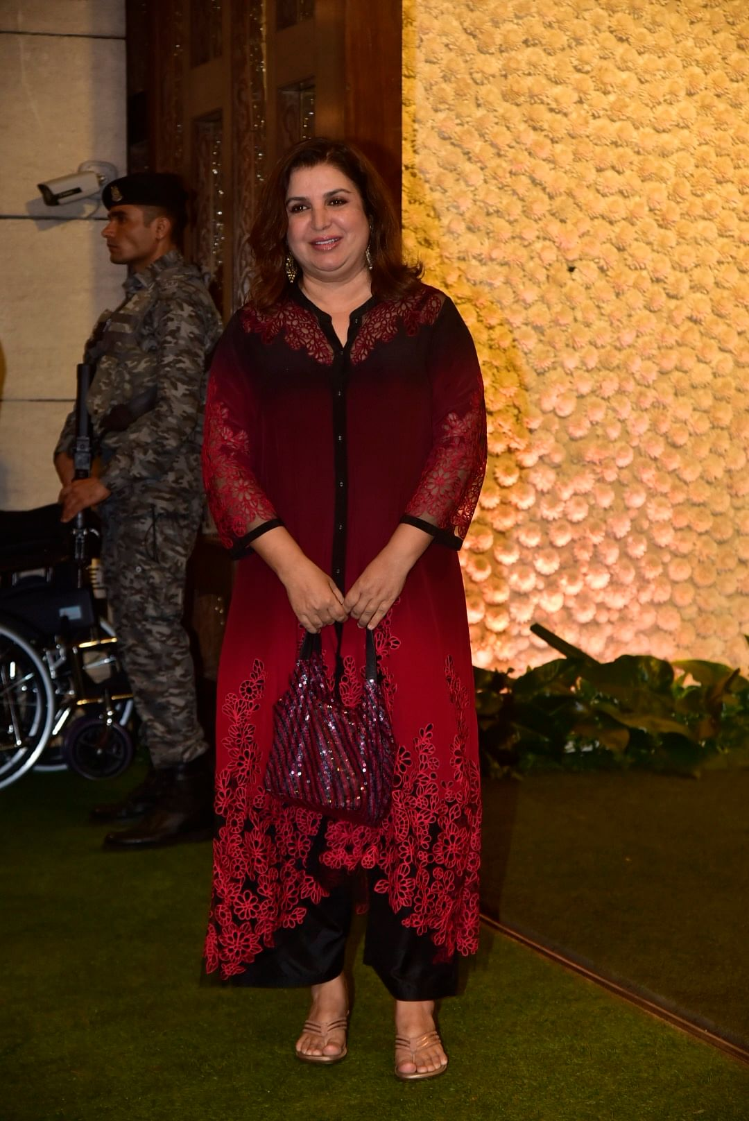 Director Farah Khan was also present at the Ambani Ganpati celebrations