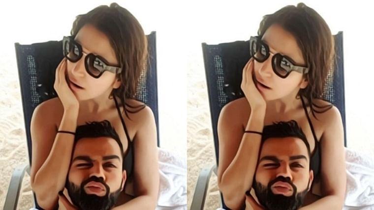 Virat Kohli posts a 'hot selfie' with bikini clad wife Anushka Sharma