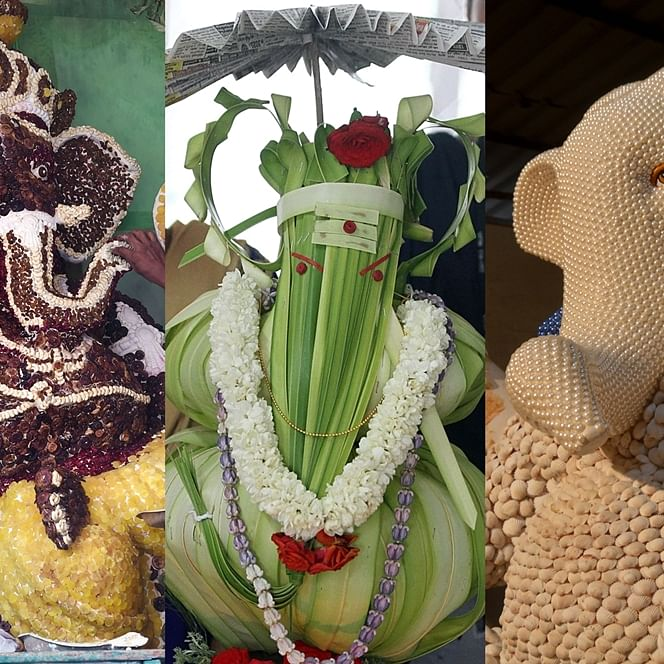 Coconuts, Fish Food, Pencils: Check out these innovative Ganesh Idols