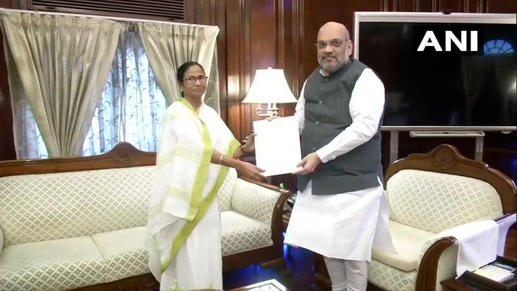 West Bengal Chief Minister and Trinamool Congress leader Mamata Banerjee and Union Home Minister Amit Shah