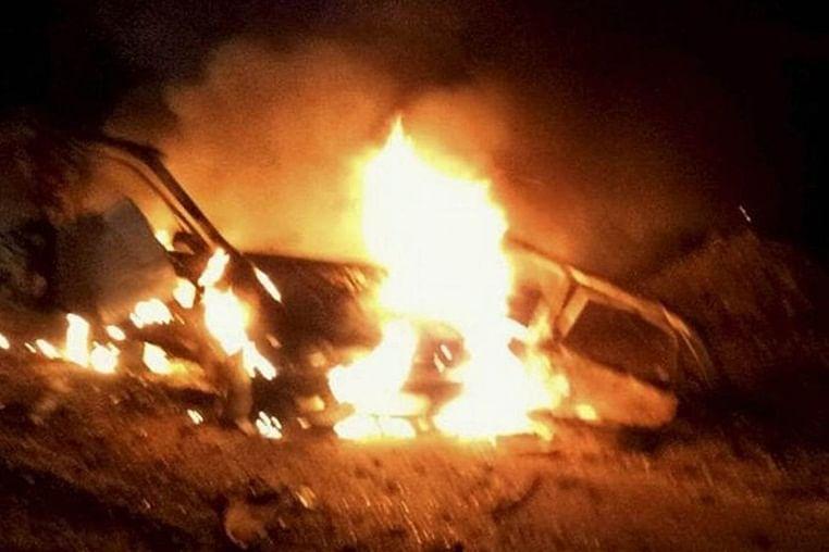 Three killed as Naxals blow up oil tanker in Chhattigarh