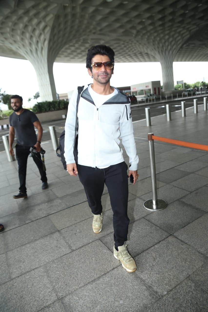 Comedian Sunil Grover spotted at Mumbai airport.