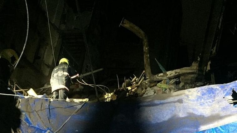 17 rescued after portion of three-story building collapses in South Mumbai's Fort area