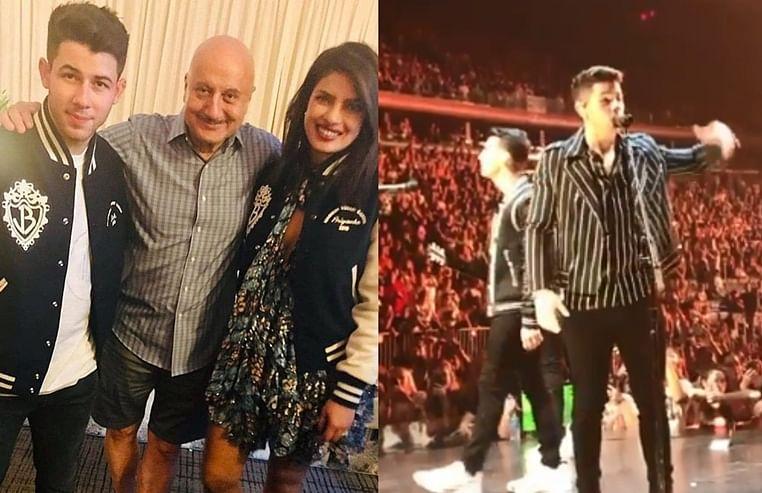 Watch Anupam Kher attends Nick Jonas' concert with Priyanka Chopra