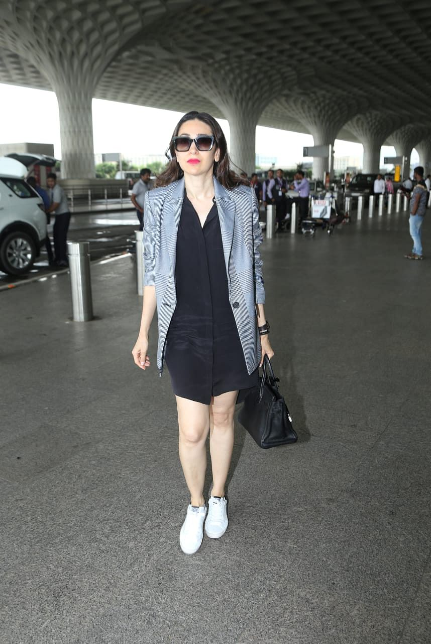 Karisma Kapoor at airport today morning