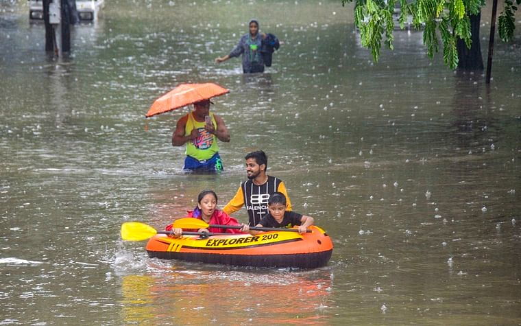 Two, including 7-year-old, washed away in flooded nullahs in Thane, Palghar