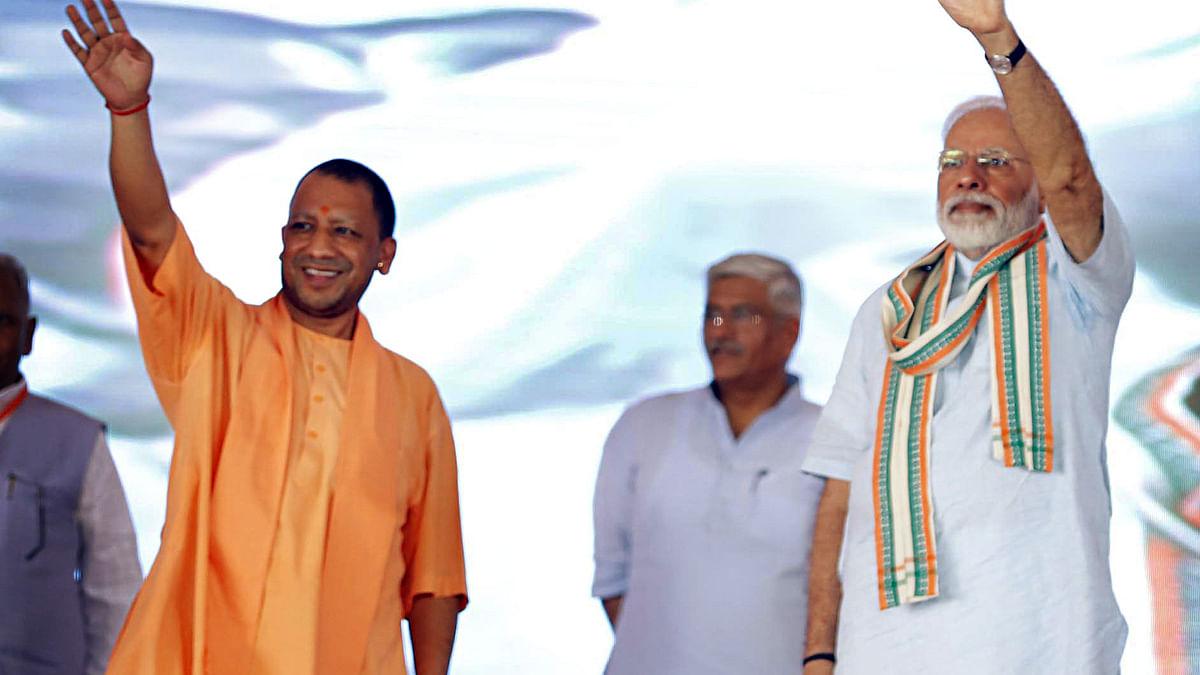 A file photograph of PM Modi and UP CM Yogi Adityanath