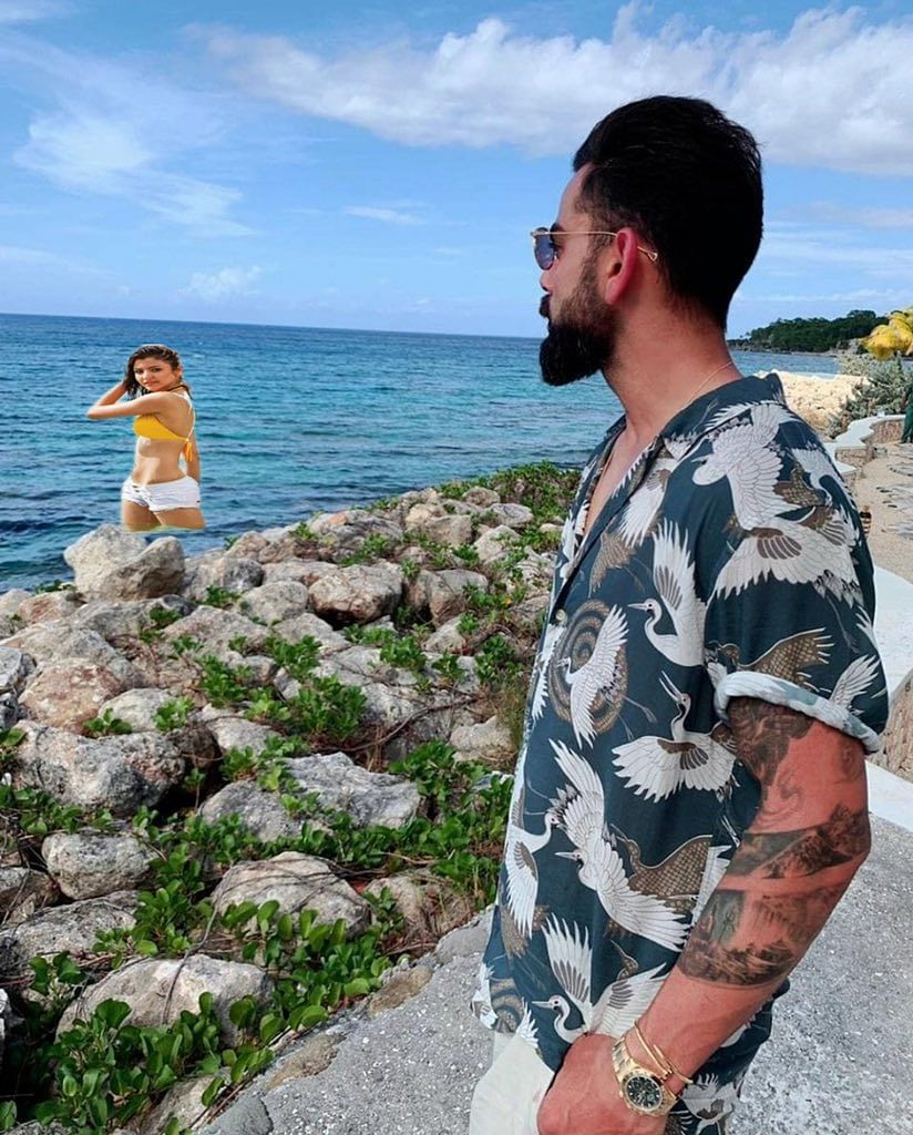 Fan edits Virat Kohli's picture by adding bikini clad Anushka Sharma, and the result is hilarious