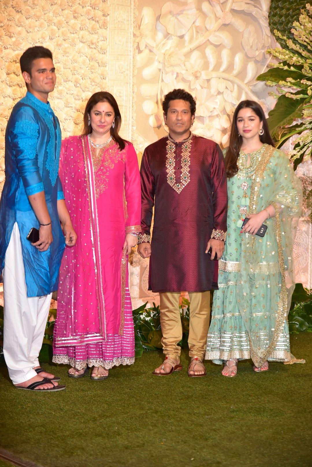 Tendulkar family at Antilia Ganpati celebrations in Mumbai