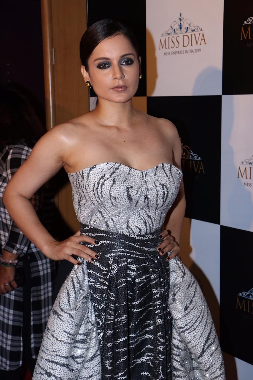 Kangana Ranaut is a monochromatic style diva in this Toni Maticevski outfit; see pics