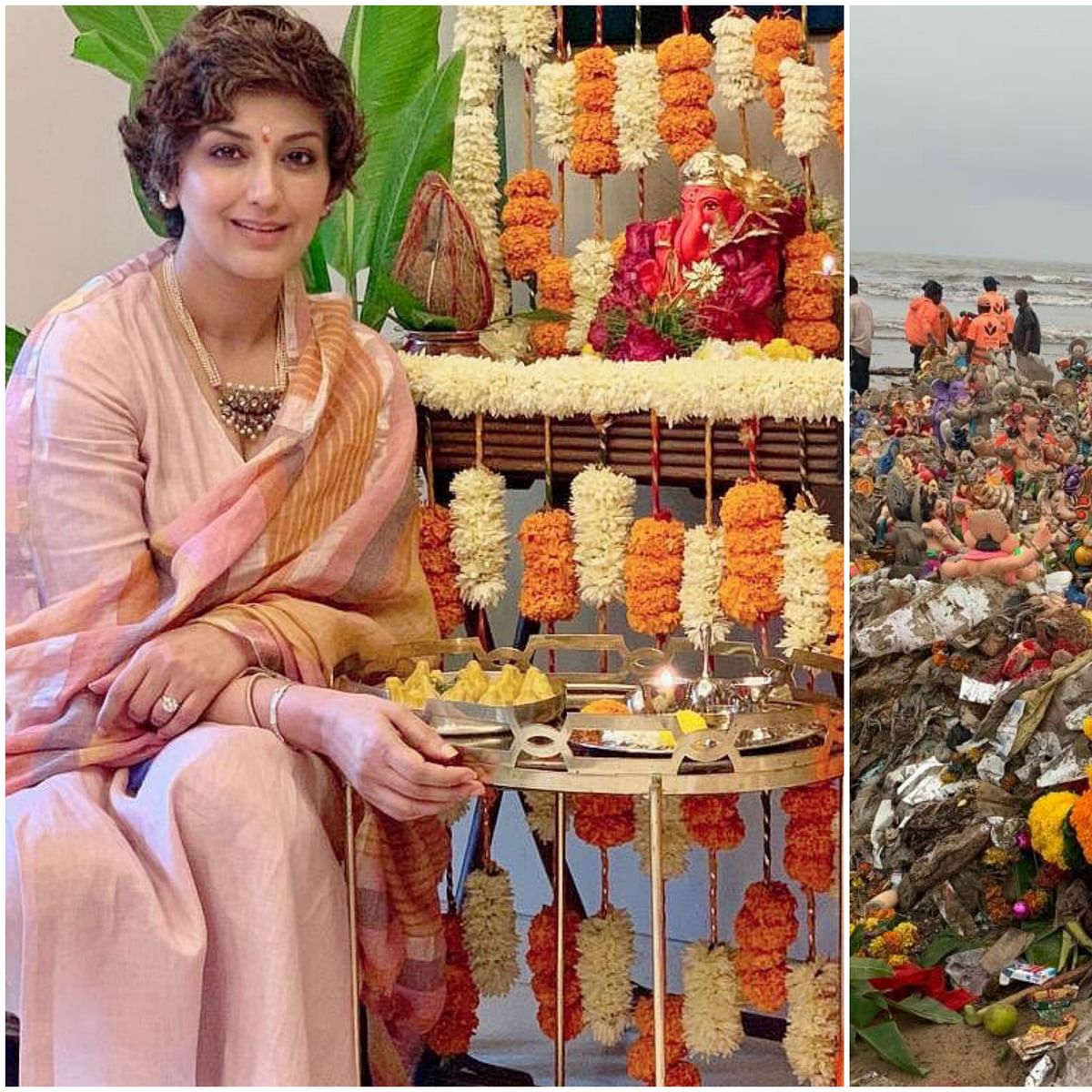 Sonali Bendre concerned about pollution caused by Ganesh Visarjan