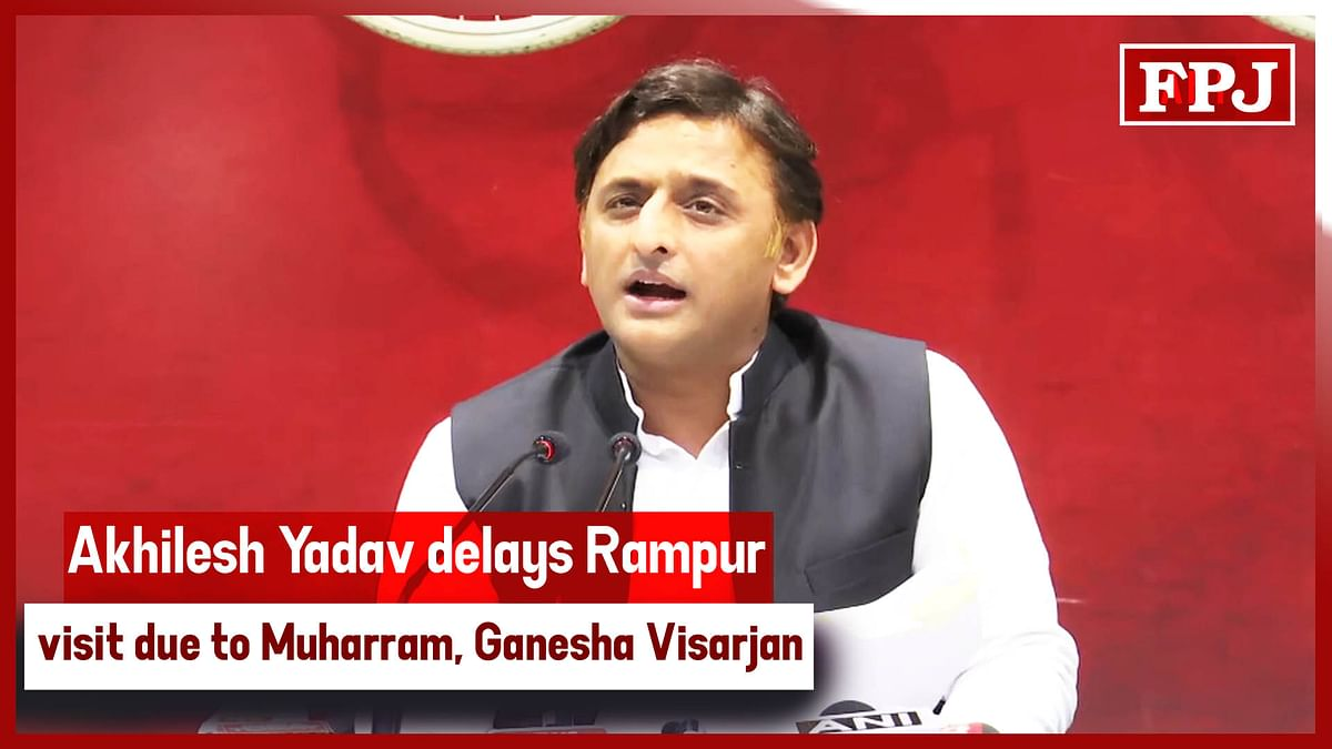 Akhilesh Yadav Delays Rampur Visit Due To Muharram, Ganesha Visarjan