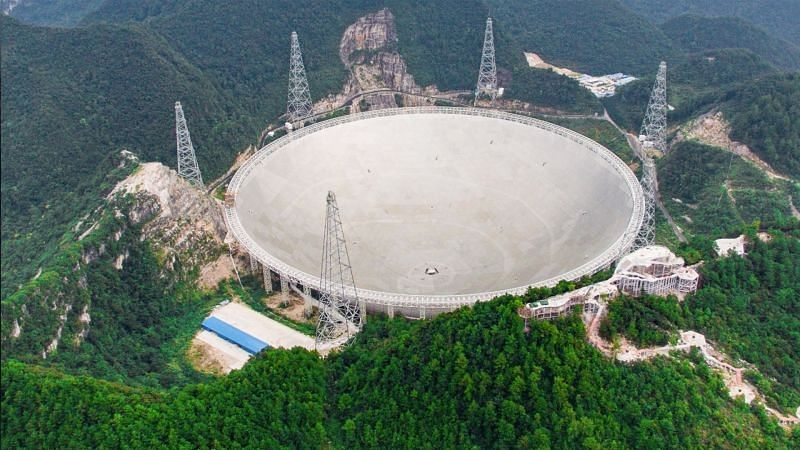 China's giant telescope picks up signals from deep space