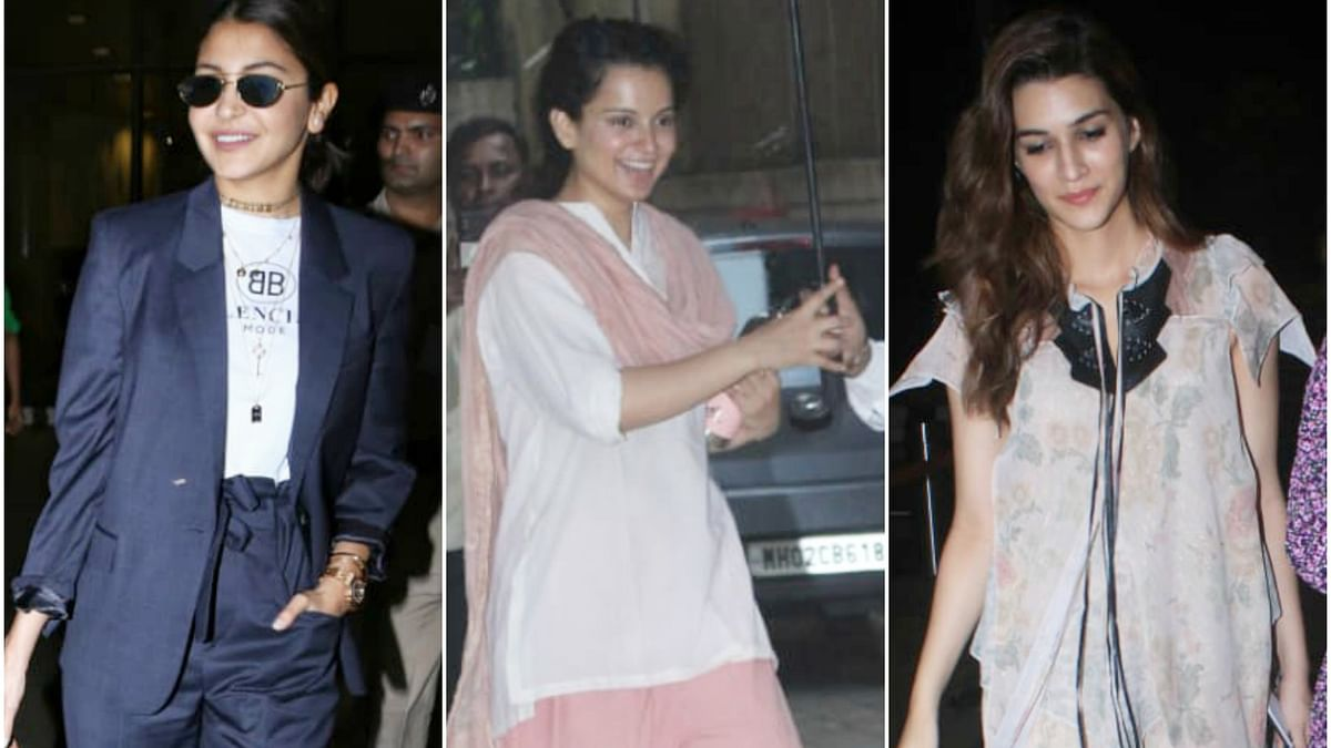 Paparazzi Files: Anushka Sharma, Kangana Ranaut, Kriti Sanon and others captured by shutterbugs