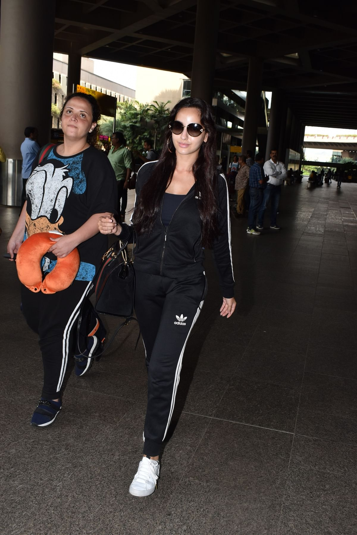 Nora Fatehi snapped at Mumbai airport.