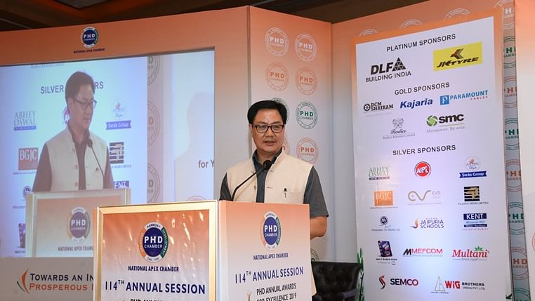 Union minister of Youth Affairs and Sports Kiren Rijiju