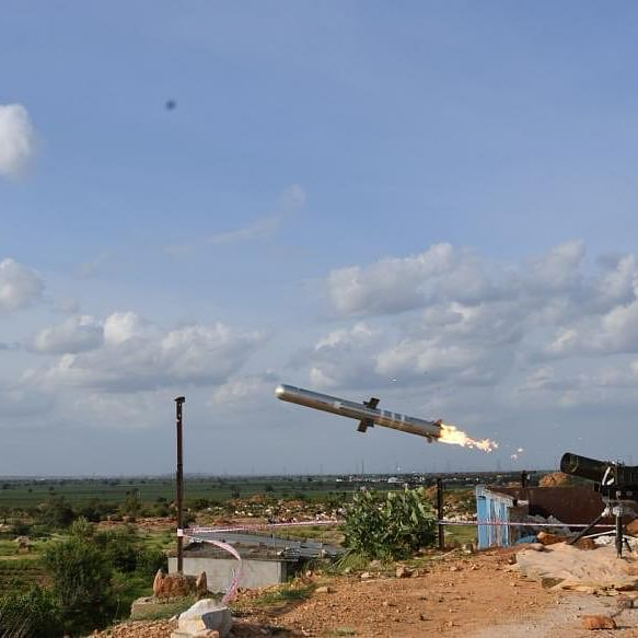 DRDO successfully tests fire-and-forget, anti-tank missile