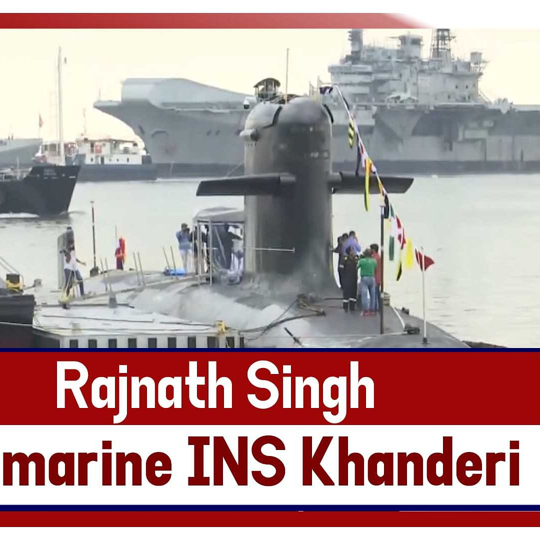 Rajnath Singh Commissions Second Kalvari-Class Submarine #INSKhanderi