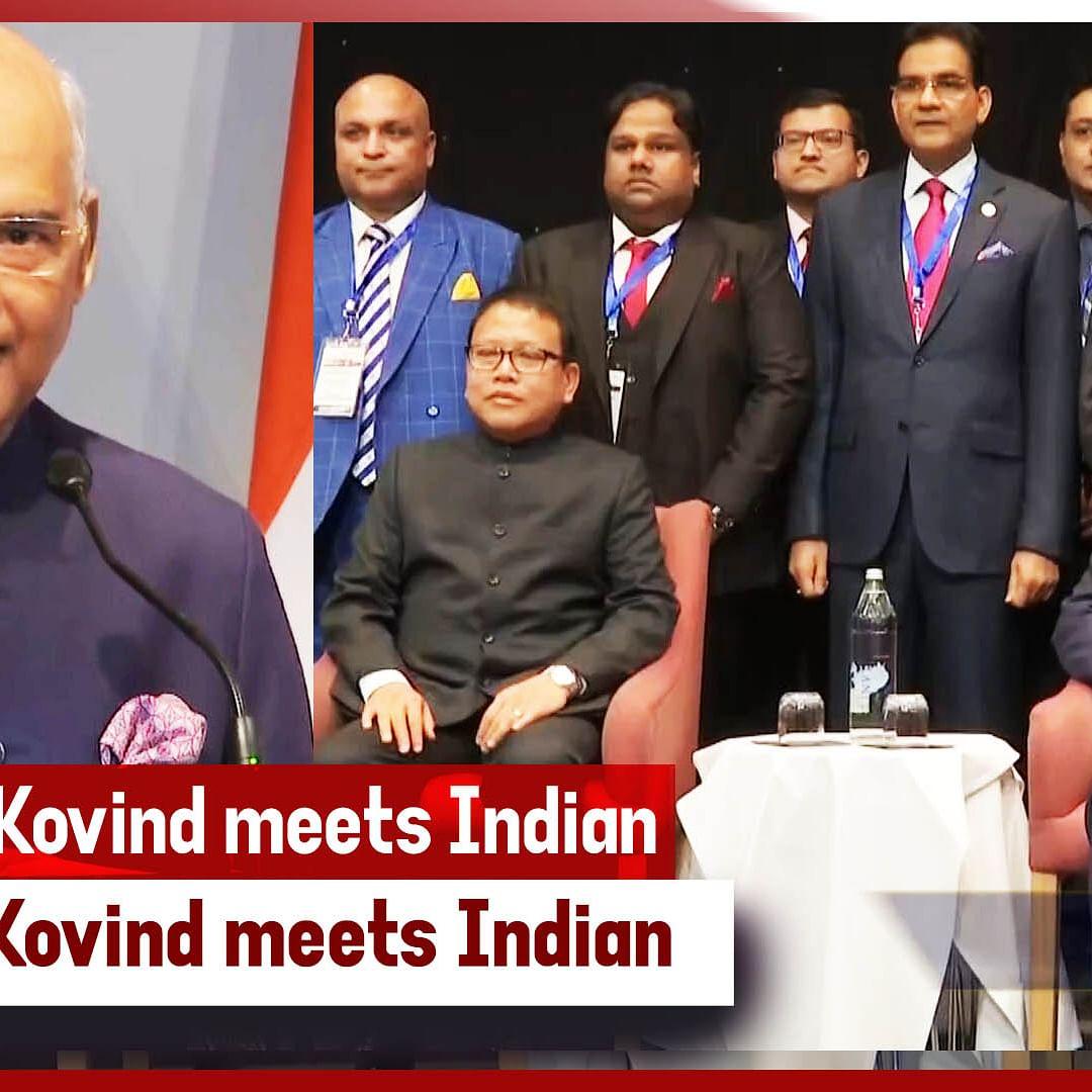 President Kovind Meets Indian Community In Iceland's Reykjavík