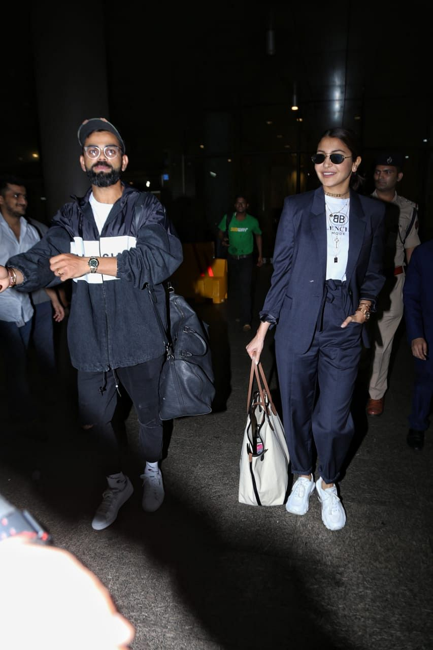 Indian cricket team captain Virat Kohli and his actor-wife Anushka Sharma returned to India early in the morning.