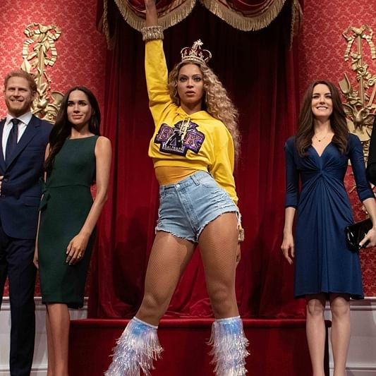 Beyonce gets spot amongst British Royals at Madame Tussauds