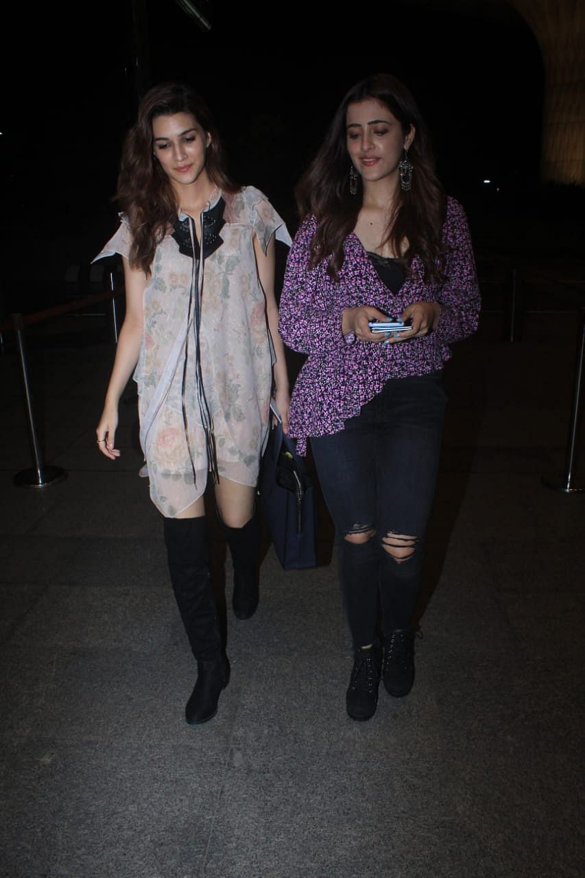 Kriti Sanon left for New York Fashion Week with sister Nupur. Kriti will be attending the COACH SS'20 fashion show in New York.