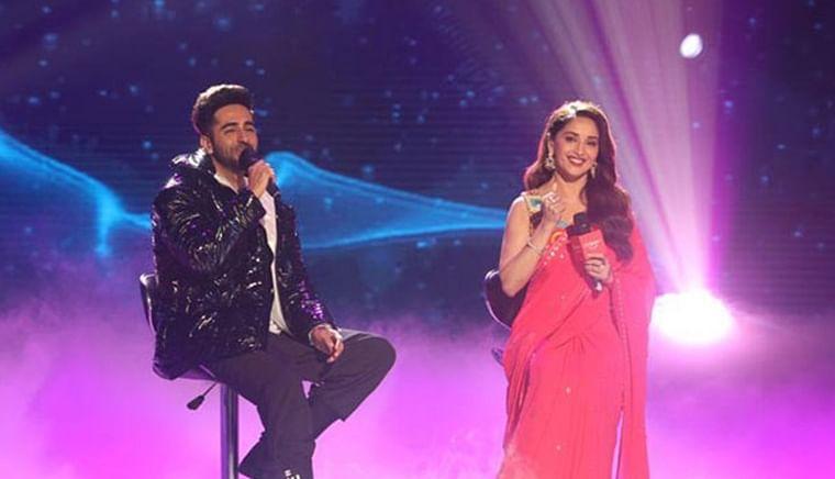 Watch Madhuri Dixit sing 'Yeh Ladka Haye Allah' with Ayushmann Khurrana