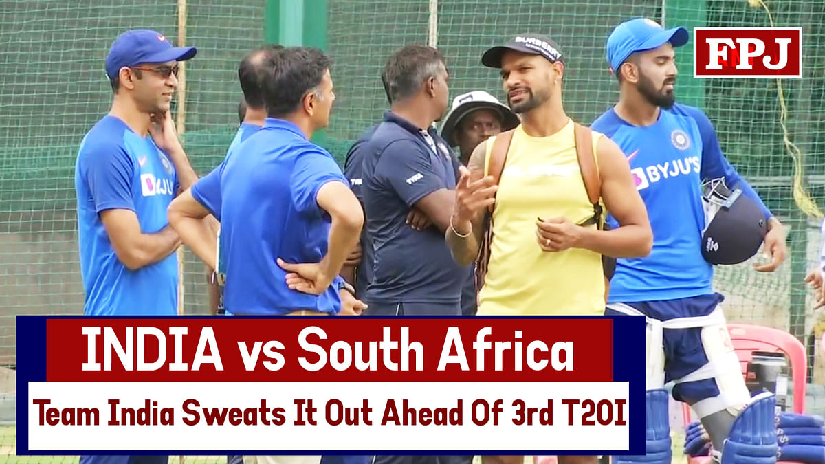 IND vs SA: Team India Sweats It Out Ahead Of 3rd T20I