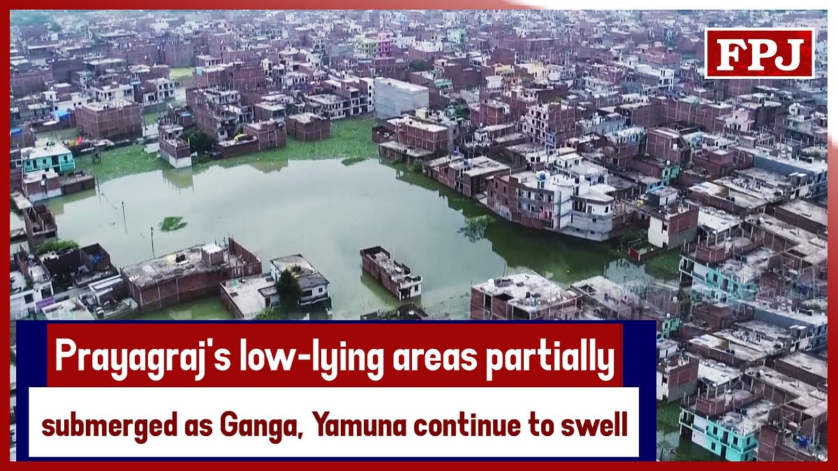 Prayagraj's Low-Lying Areas Partially Submerged As Ganga, Yamuna Continue To Swell