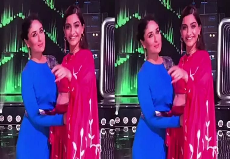 Kareena and Sonam groove to the tunes of 'Tareefan' on the sets of Dance India Dance
