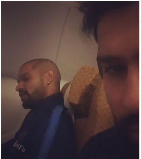 India batsman Rohit Sharma shared a video with his opening partner Shikhar Dhawan