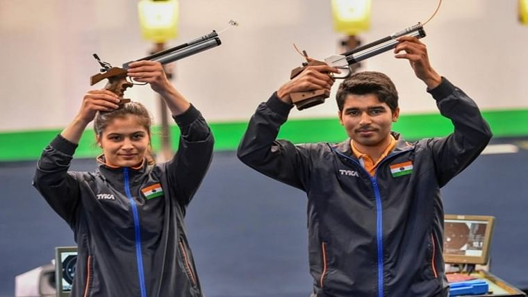 Manu Bhaker-Saurabh Chaudhary win gold, unprecedented finish for India