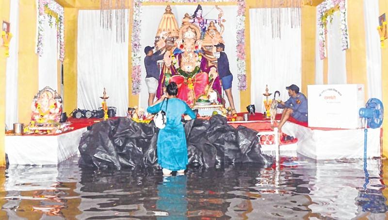 Mumbai: Less footfalls at Ganesh mandals