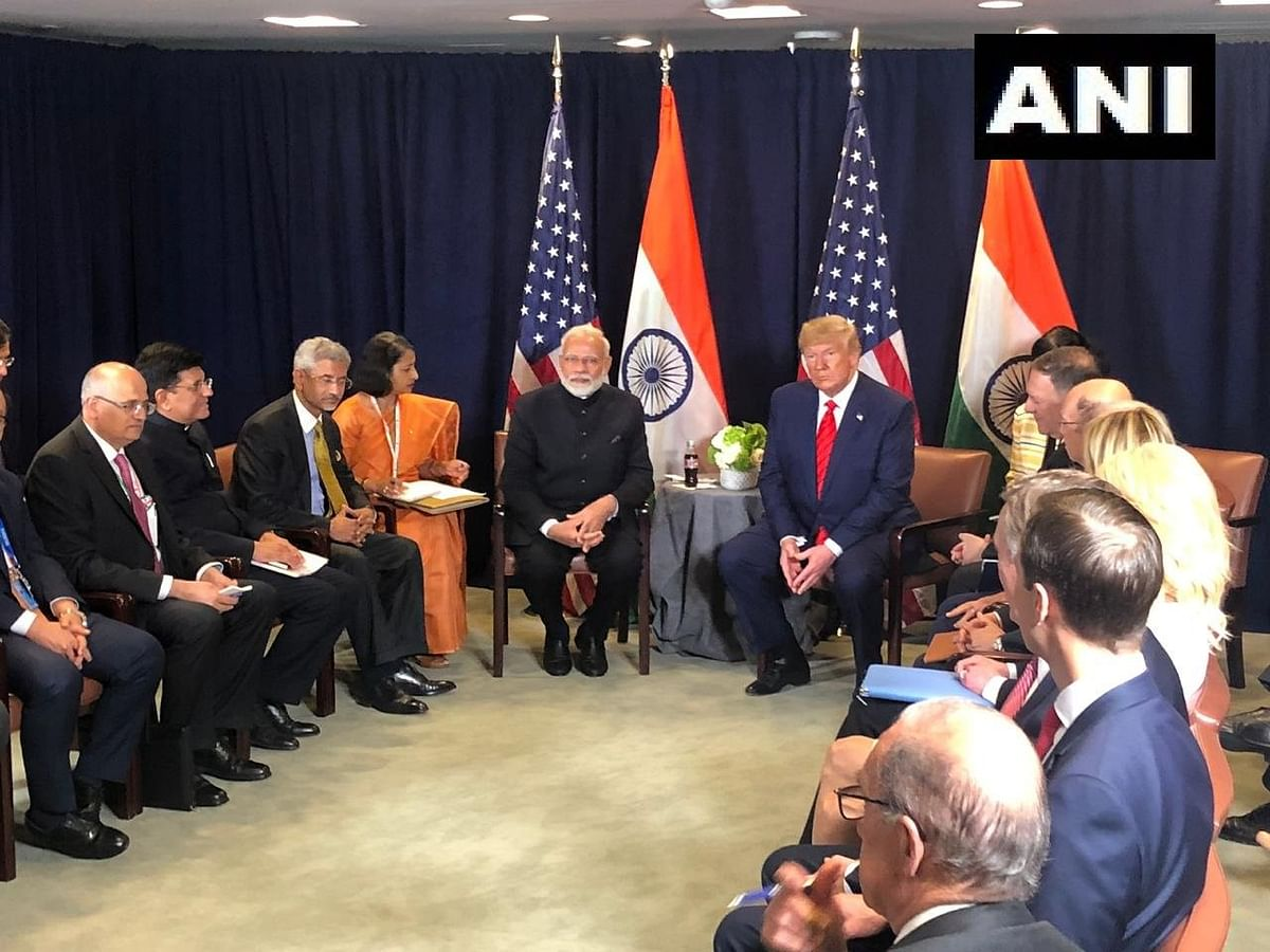 Narendra Modi meets Donald Trump for a bilateral on the sidelines of the UN General Assembly session in New York.