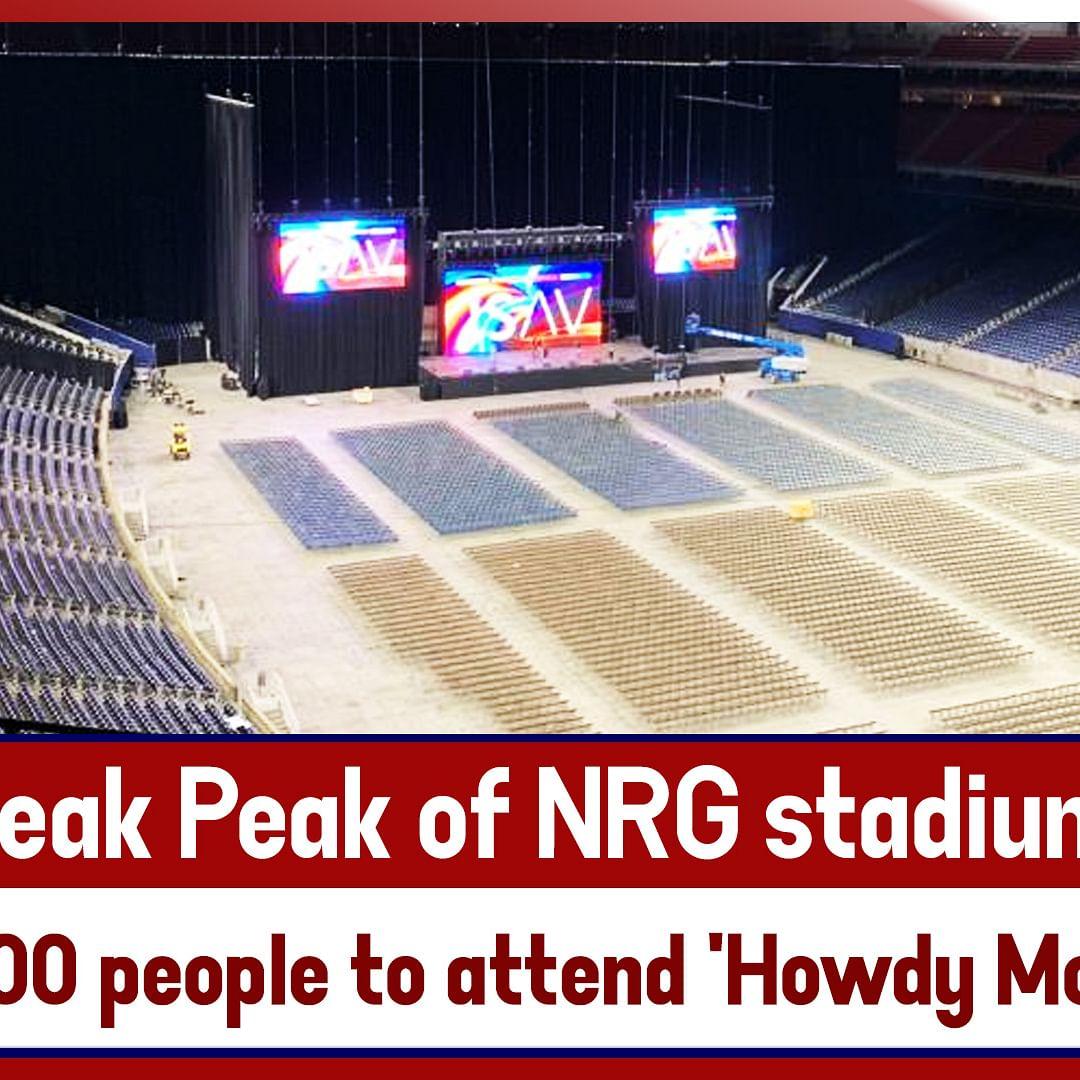 Sneak Peak of NRG stadium where 50,000 people to attend 'Howdy Modi' event