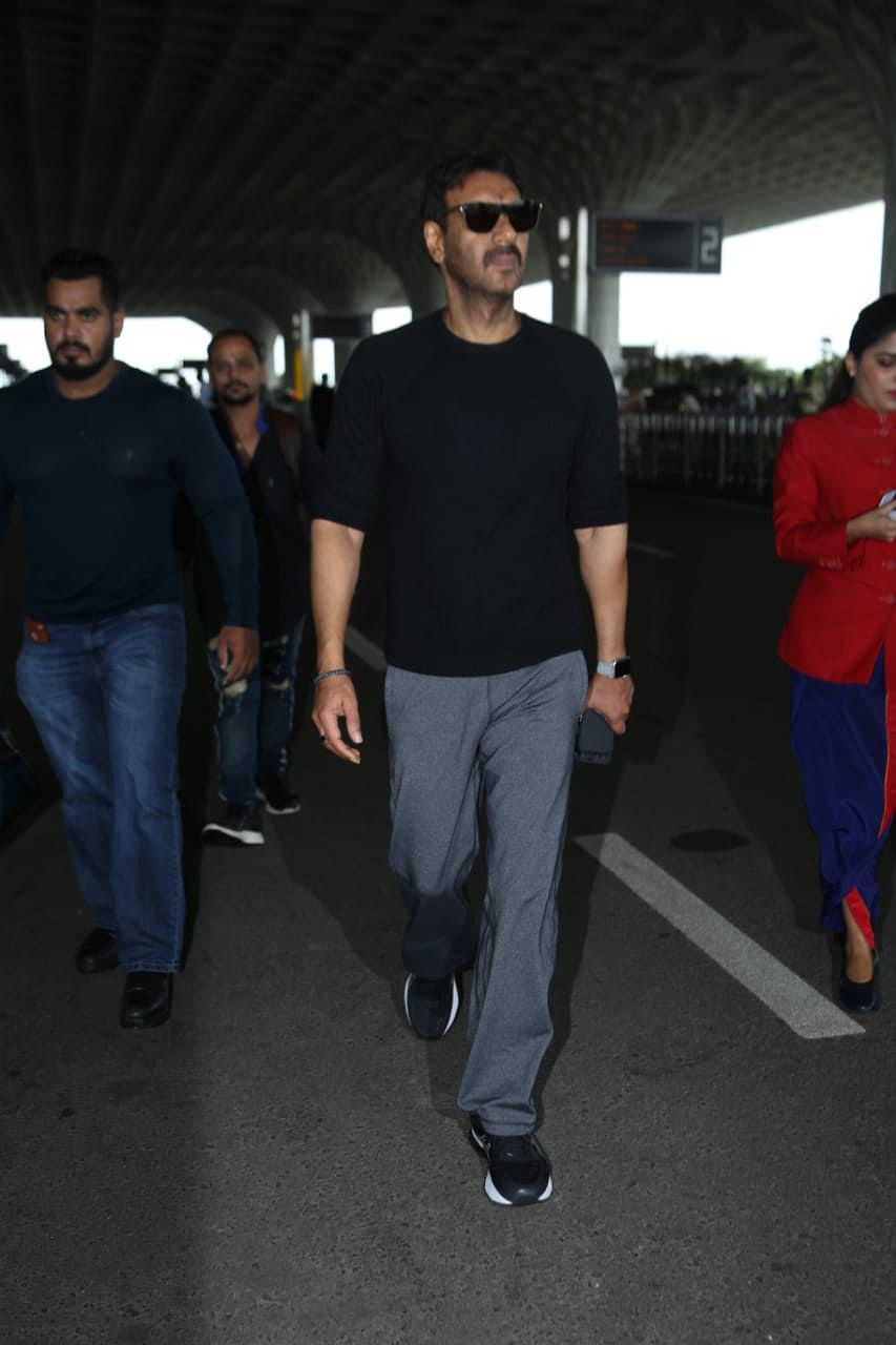 Ajay Devgn spotted at the Mumbai airport.
