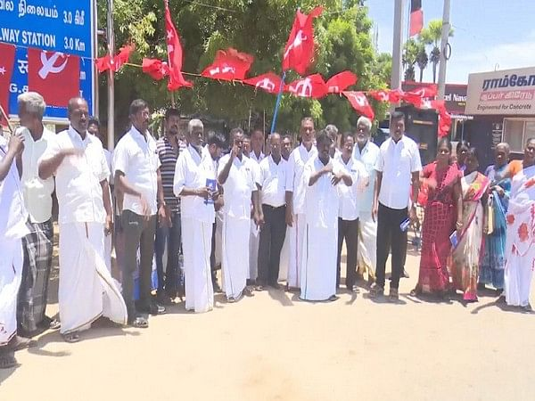 TN: CPI(M) protest against govt, demand facilities for Ramanathaswamy Temple