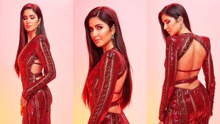 Katrina Kaif steals the show in maroon shimmery backless dress at IIFA Rocks 2019