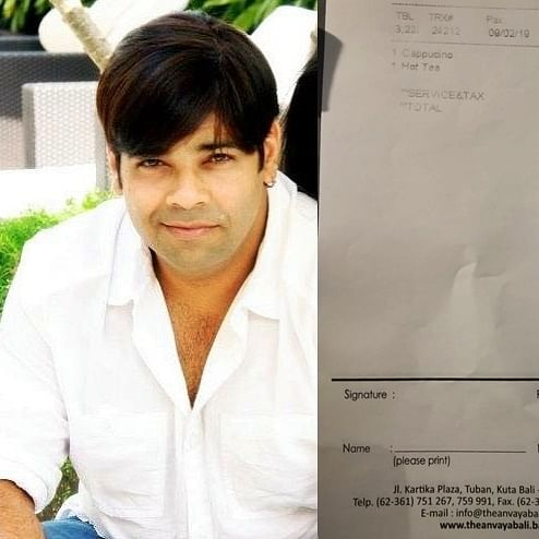 After expensive banana row, actor-comedian Kiku Sharda charged Rs 78,650 for coffee and tea in Bali