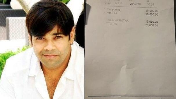 After expensive banana row, actor-comedian Kiku Sharda charged Rs 78,650 for coffee and tea in Bali