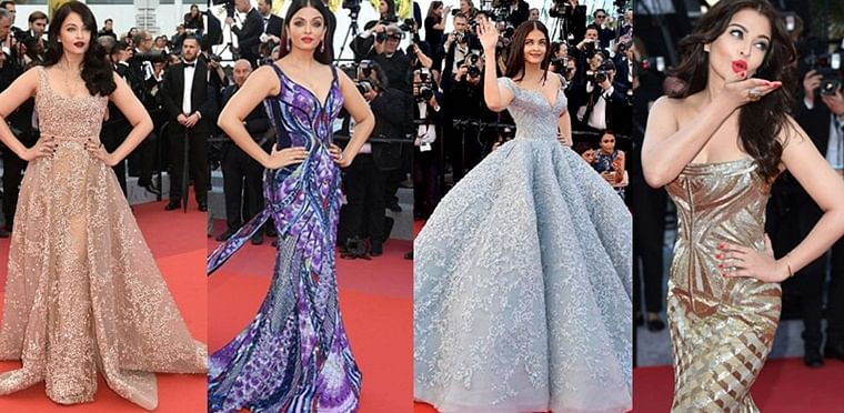 Eight times birthday girl Aishwarya Rai Bachchan made time stand still at Cannes with her iconic dresses
