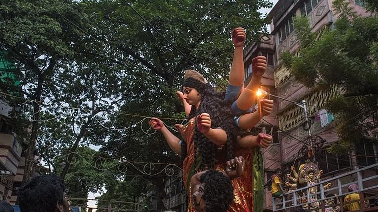 Bhopal: Restriction lifted on the height of the idols of Goddess Durga, pandals now to be of 30 x 45 sq ft