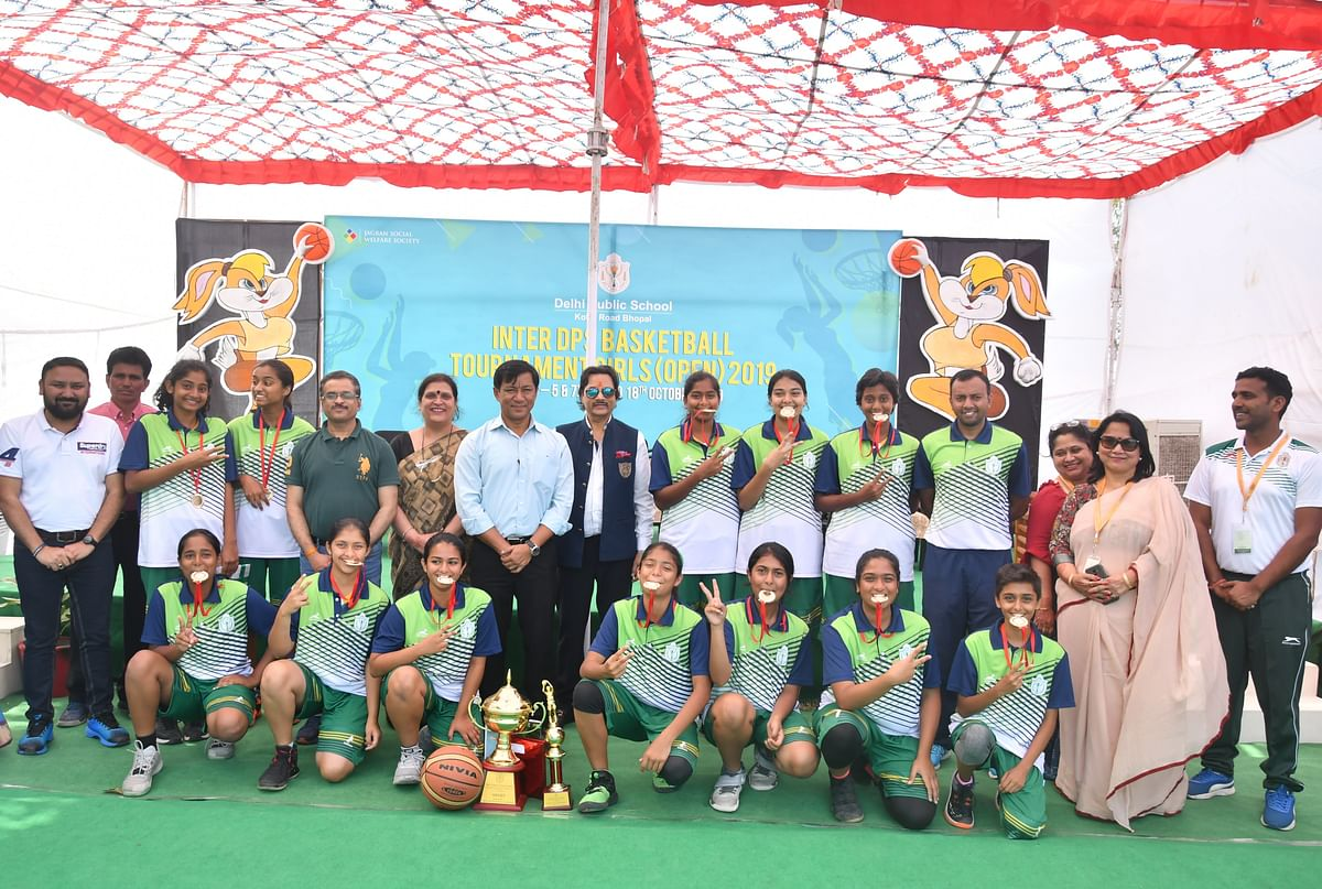 Bhopal: DPS Bangalore South lifts Basketball C'ship trophy