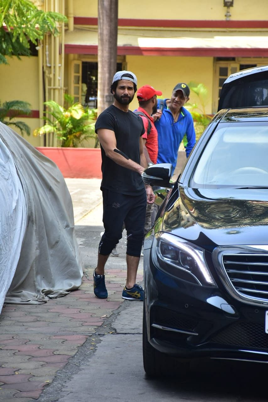 Shahid Kapoor at  i think fitness gym