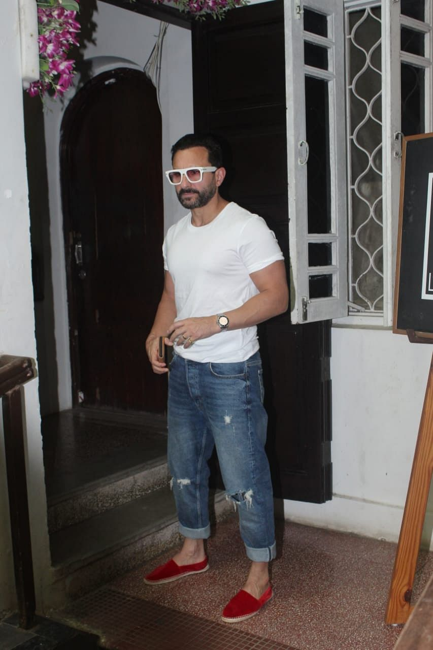 Saif Ali Khan spotted at krome studio in Bandra