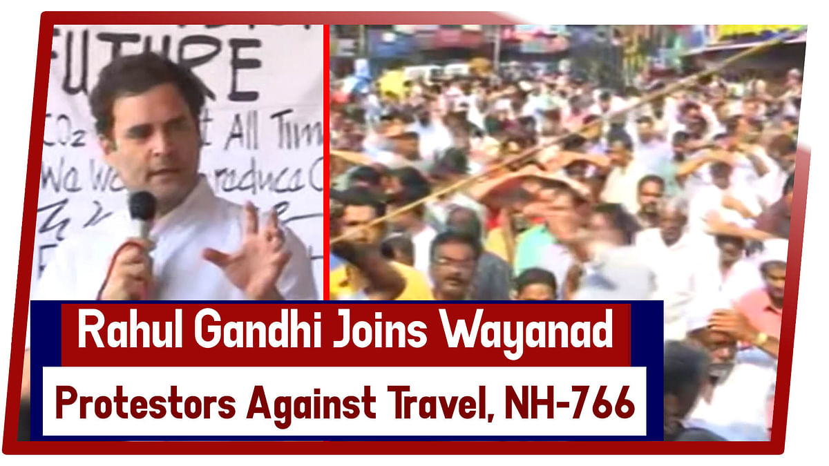 Rahul Gandhi joins Wayanad protestors against travel ban on NH-766