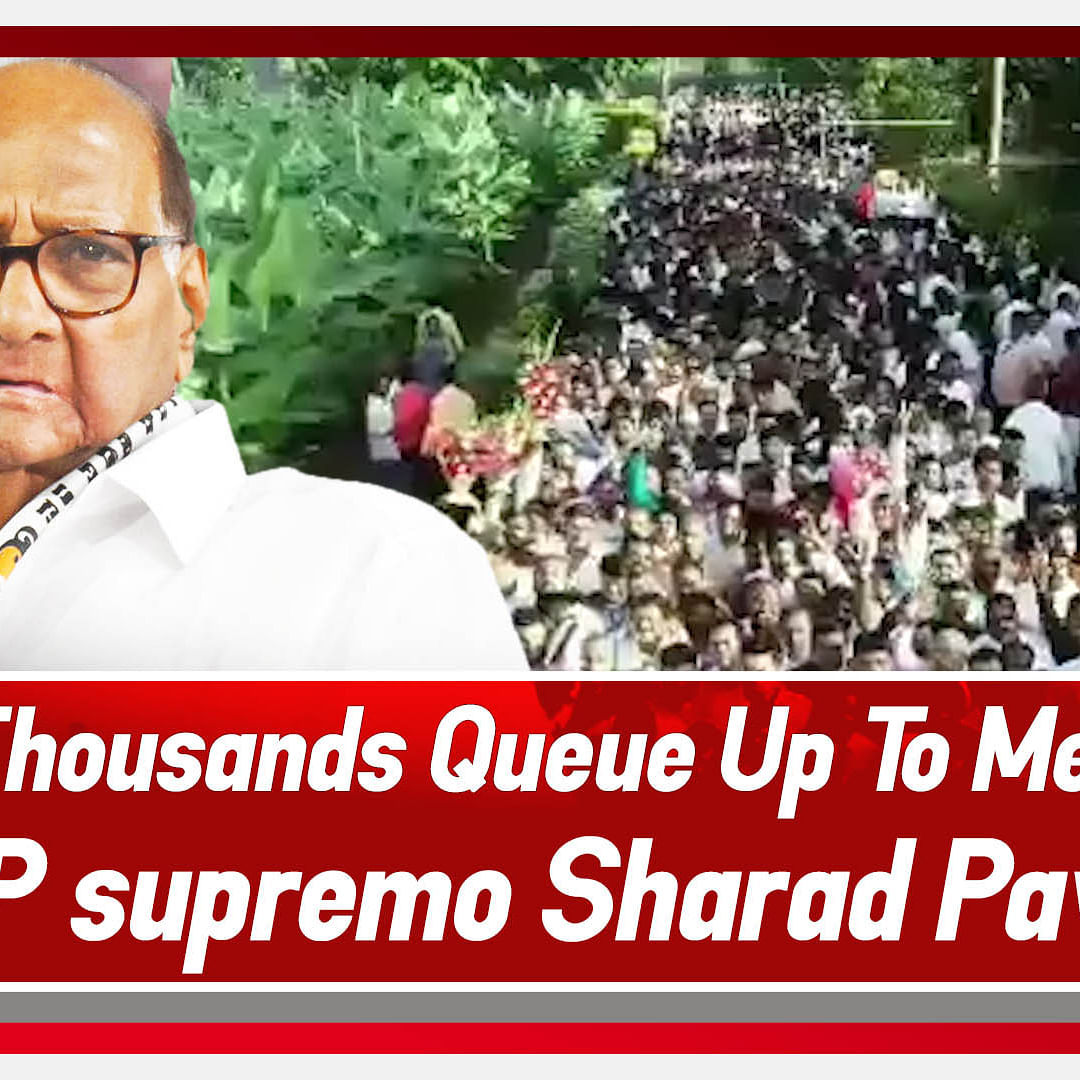 Thousands Queue Up To Meet NCP Supremo Sharad Pawar In Baramati
