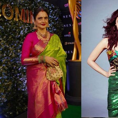 Watch Rekha imitate Alia Bhatt's 'dhoptuingi' dialogue from 'Gully Boy'