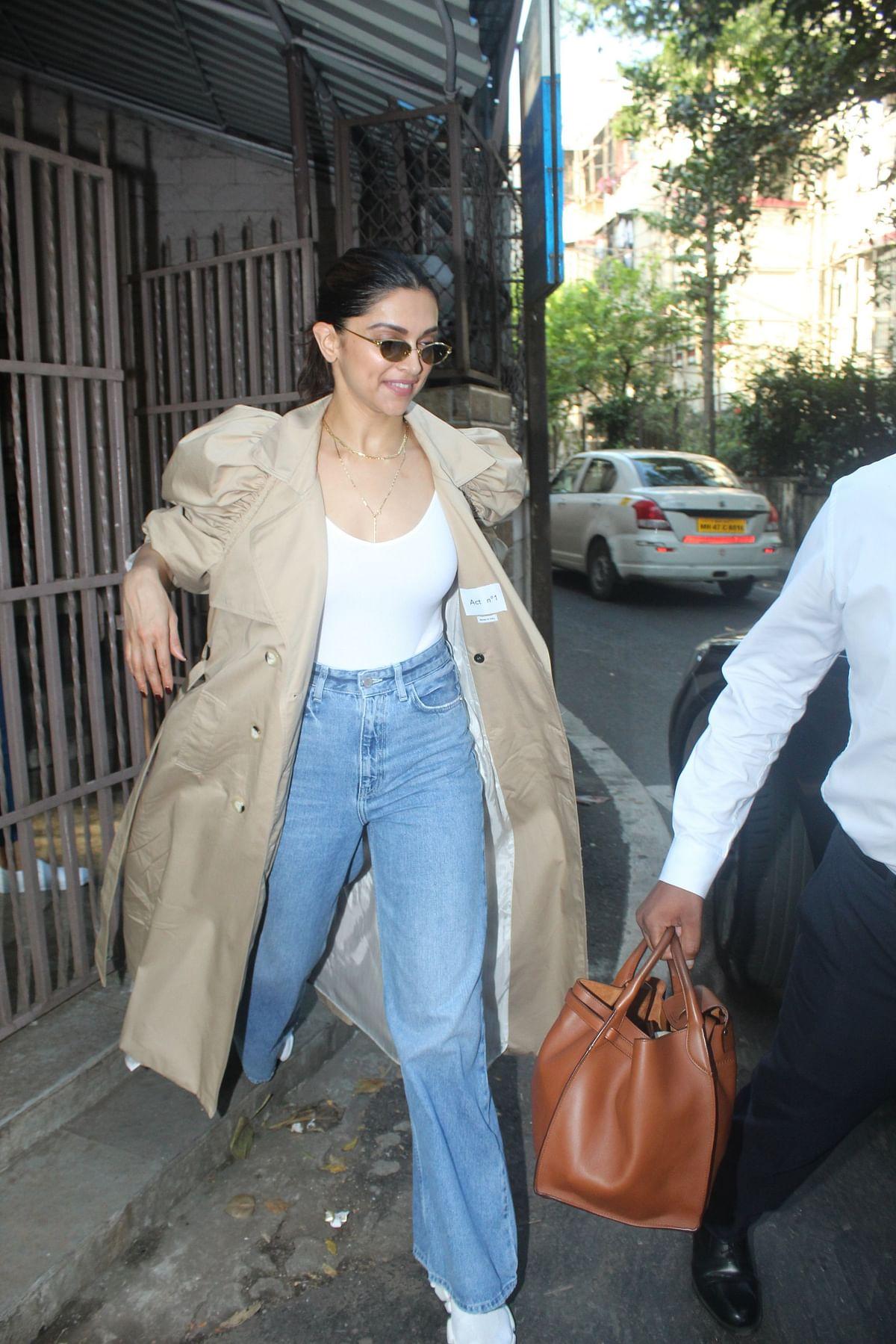 Deepika Padukone trolled for wearing dramatic coat in Mumbai weather
