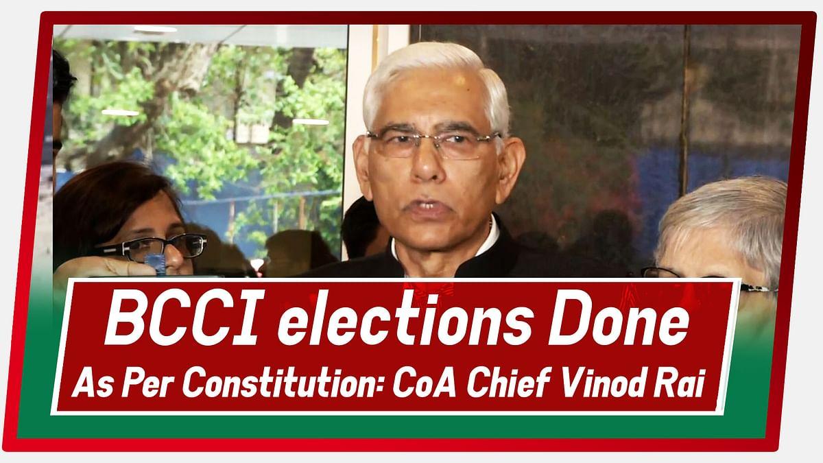 BCCI Elections Done As Per Constitution: CoA Chief Vinod Rai